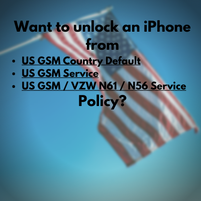 US GSM Service Policy iPhone Unlock