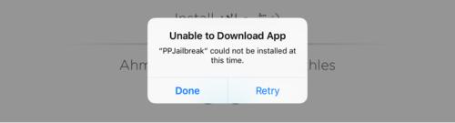 Fix Jailbreaking iOS 9.3.3 using Safari-Unable-Download