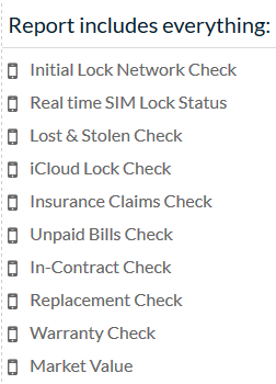 Unlock Verizon iPhone-IMEI Check-report