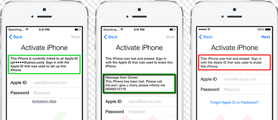 Unlock iCloud using UDID if you can't see a message on the iCloud Activation Lock Screen