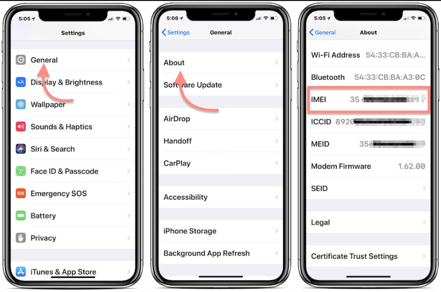 This is how to locate your IMEI through iPhone Settings