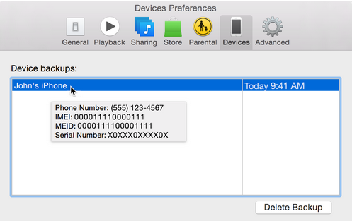 Find The IMEI using iTunes without the iPhone