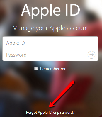 forgot iCloud password-My-Apple-ID-service-Safari