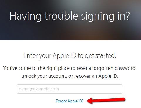 forgot iCloud password-My-Apple-ID-service-iforgot