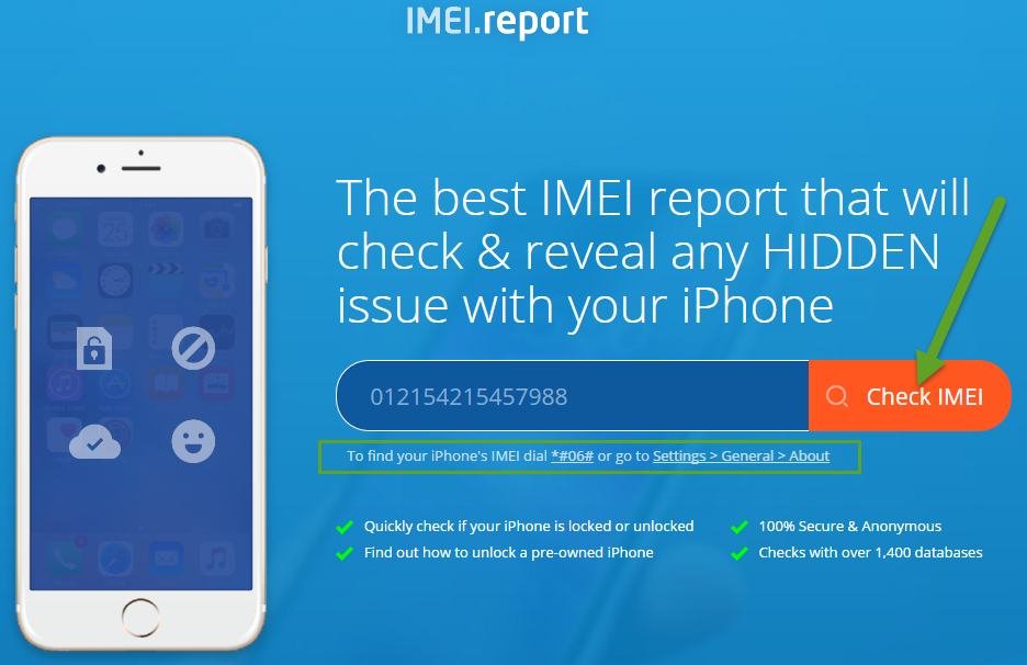 IMEI.Report Step 1