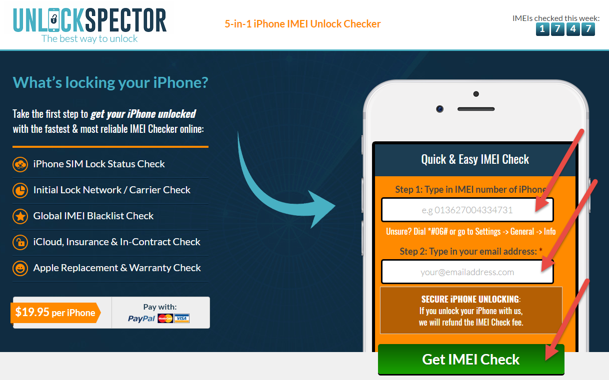 UnlockSpector.com Step 1