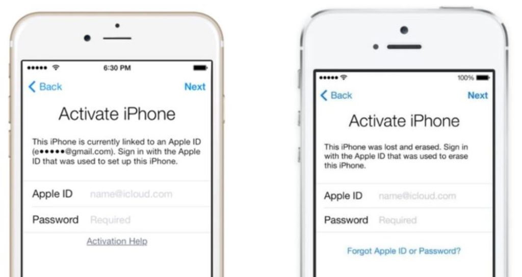 Apple iCloud Check and avoid iCloud Activation Lock Screen