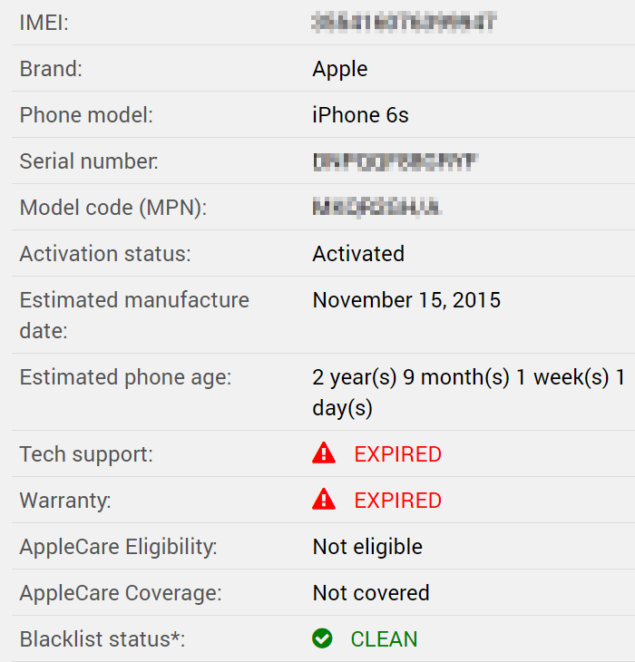 Free Apple IMEI Checker