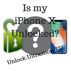 Unlock iPhone X - Unlocked check