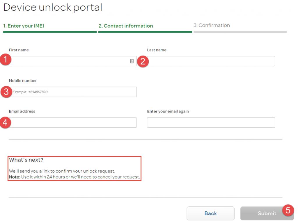 AT&T Unlock Device unlock portal clean