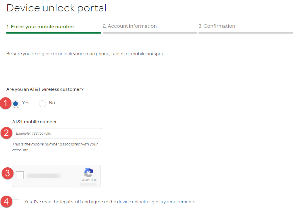 AT&T Unlock Device unlock portal customer