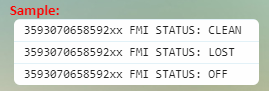 icloud status report sample