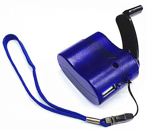 Hand-Crank iPhone Emergency Charger