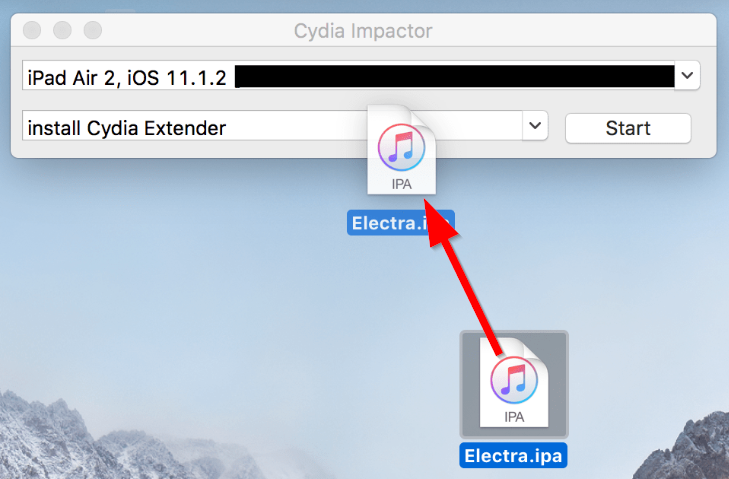 drag electra into Cydia Impactor to jailbreak iOS 11.3.1