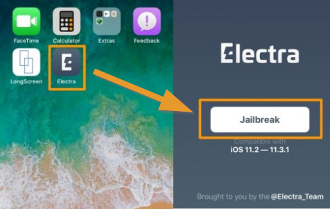 Launch Electra to jailbreak iOS 11.3.1