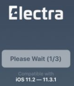 Electra please wait to jailbreak iOS 11.3.1