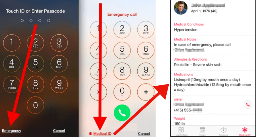 How to find the owner of stolen iPhone using Medical ID