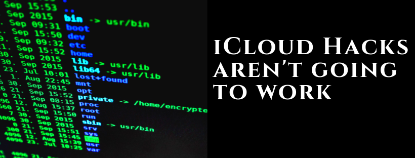 iCloud Hack is not an option
