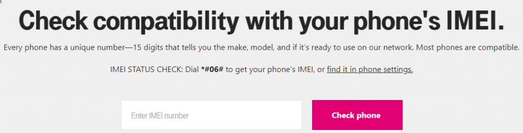 You can check a T-Mobile IMEI on their site