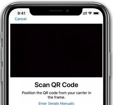 eSIM Scan QR code