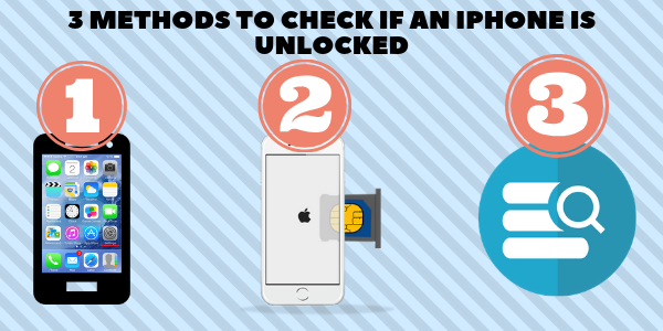 3 Methods to check if an iPhone is Unlocked