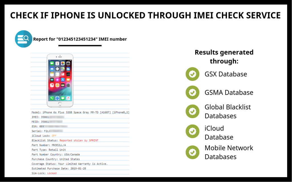 CHECK IF IPHONE IS UNLOCKED THROUGH IMEI CHECK SERVICE