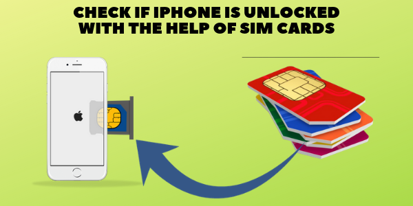 CHECK IF IPHONE IS UNLOCKED WITH THE HELP OF SIM CARDS