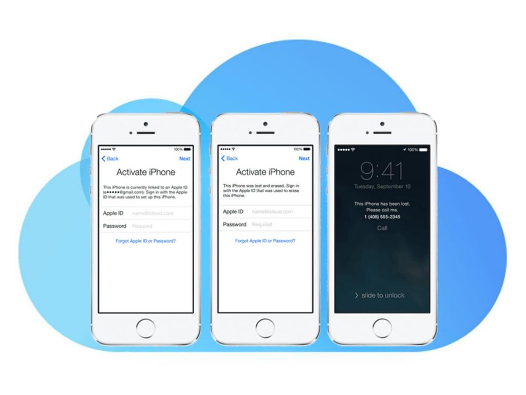 iCloud Activation Lock Screens