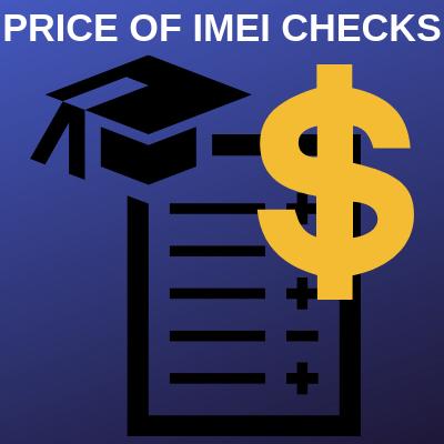 PRICE OF IMEI CHECKS