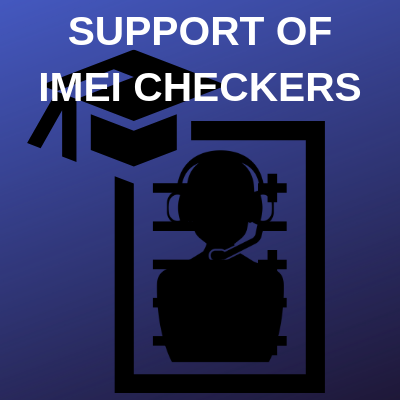 SUPPORT OF IMEI CHECKERS