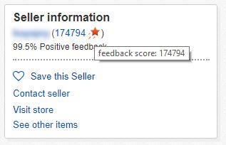 Checking iPhone seller feedback on eBay
