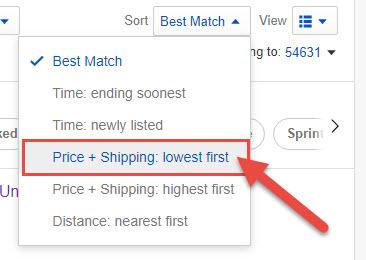 Sort used iPhones properly on eBay