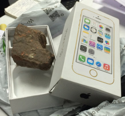 Stone instead of an iPhone eBay