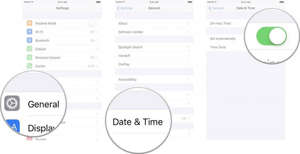 iPhone Date and Time Settings